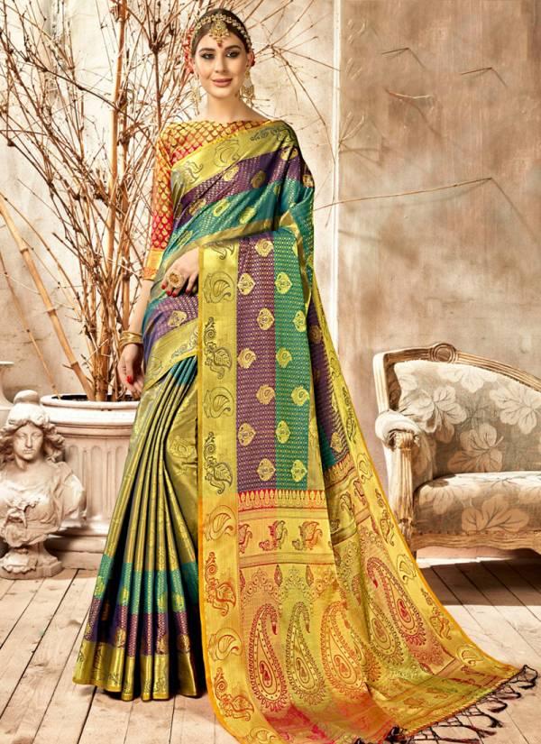 Vamika Monshika Series 2591-2598 Wedding Wear Pure Silk Art Gorgeous Sarees Collection