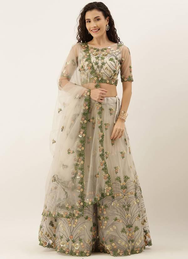 Kesari Exports Series 5170-5228 Net And Satin Silk Latest Coading Stone & Thread Embroidery Mirror Work Lehenga Choli Collection