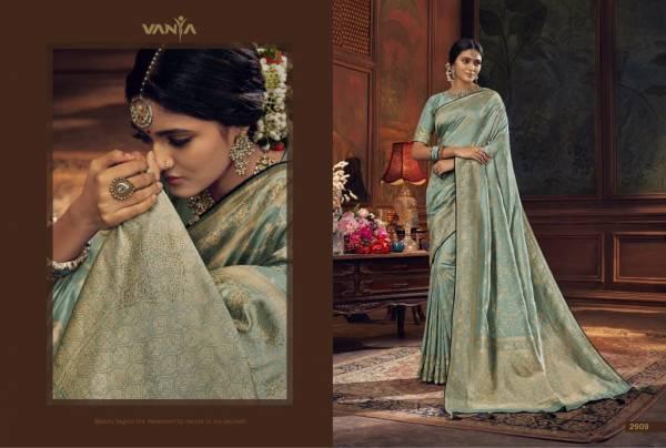 Vanya Designer Vanya Vol 19 Dola Silk Weaving Swarovski Work Sarees Collection