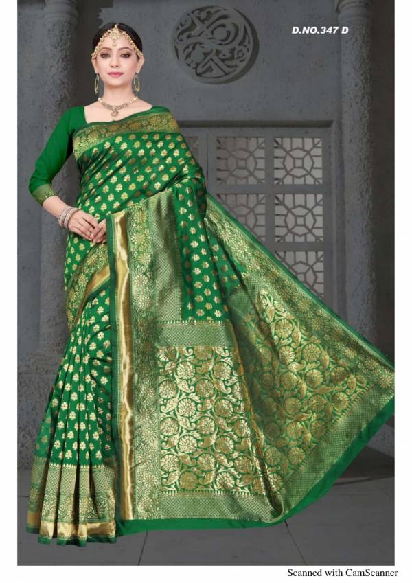 Kodas Taal Series 347A-347D Handloom Jacquard Silk Latest Designer Party Wear Sarees Collection