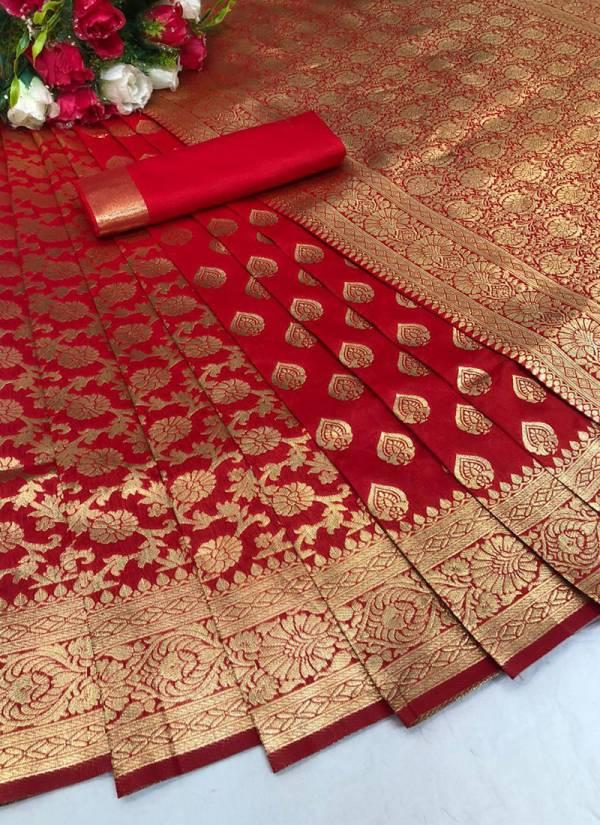 PDN Zari Pan Soft Banarasi Silk With Jacquard Zari Work Designer Sarees Collection