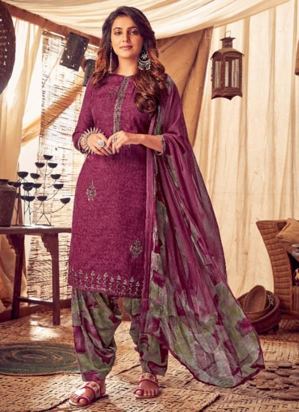 Kala Fashion Kala Patiyala Series 7001-7008 Winter Season Pashmina Print With Self Embroidery Work Patiyala Suits Collection