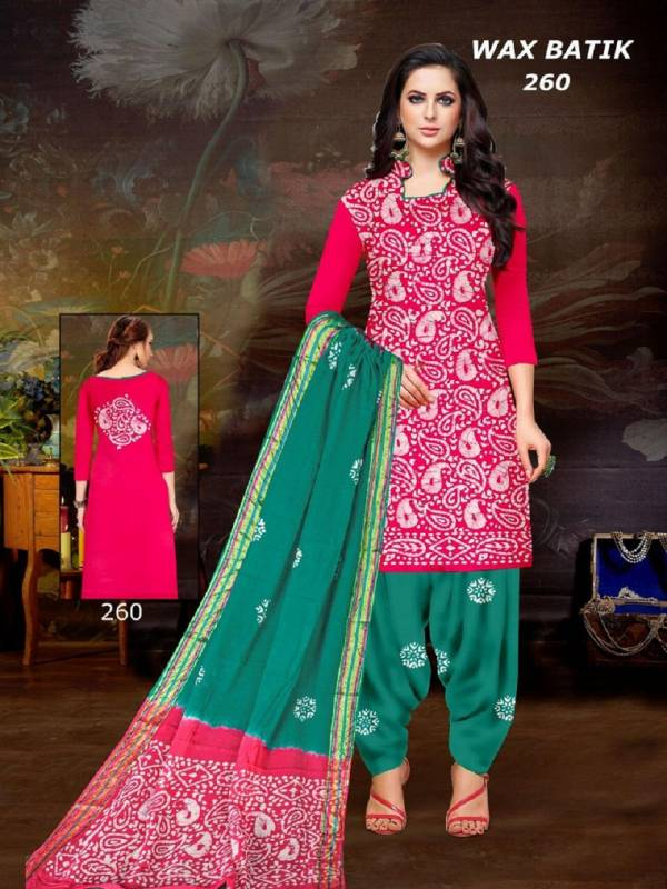 MNF Akash Wax Batik With Fancy Print Salwar Suits Collection