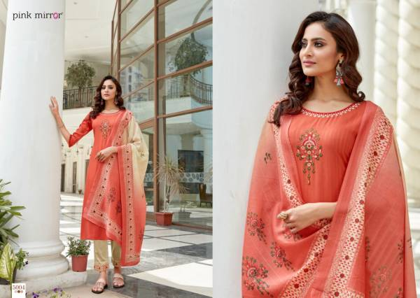Pink Mirror Vol 5 Viscose With Embroidery Work Festival Wear Designer Salwar Suit Collection