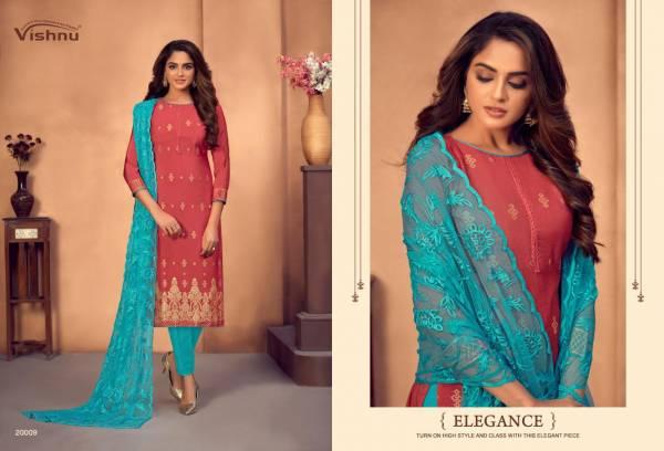 Vishnu Impex Natalia Gadwal Jacquard With Fancy Party Wear Salwar Kameez Collection