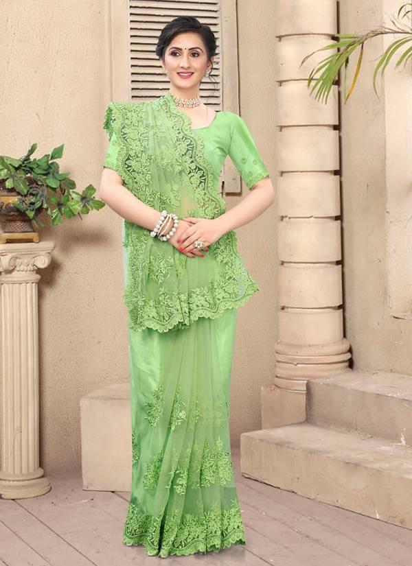 Nari Fashion Ambition Net With Heavy Resham Work Sarees Collection