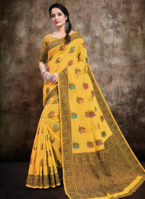 Vellora Vol 14 Kesari Exports Series 2401-2405 Banarasi Cotton Silk New Designer Sarees Collection