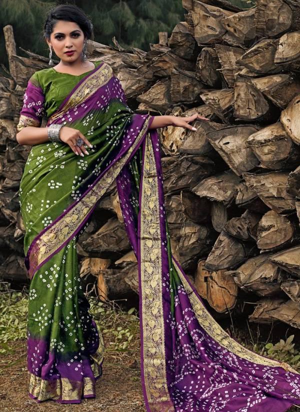 Nakshatra Fashion Studio Bandhani Vol - 8 Art Silk With Jacquard Border Traditional Wear Designer Saree Collections