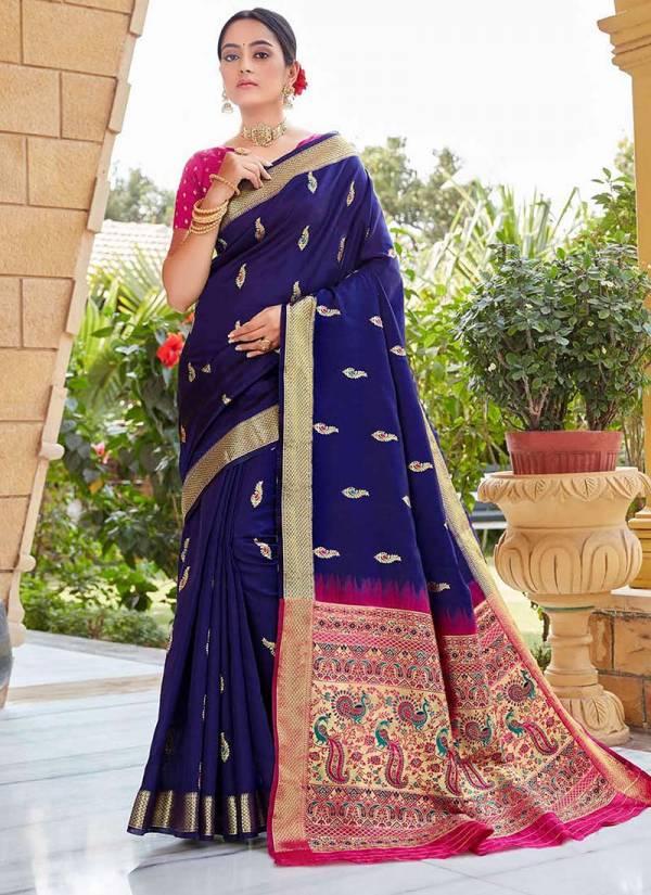 Shangrila Vivid Trends Soft Silk  Fancy Digital Work With Kashmiri Weaving Pallu Wedding Wear Sarees Collection