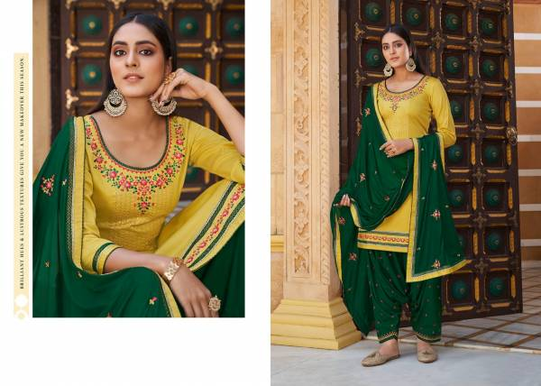 Kessi Sitara Jam silk with sequence Work Festival Wear Patiyala Suit Collection