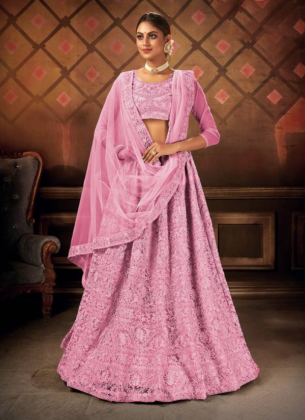 Varni Fabrics Zeeya Sultana Series 1001-1004 Net With Heavy Embroidery Work Party Wear Lehenga Choli Collection