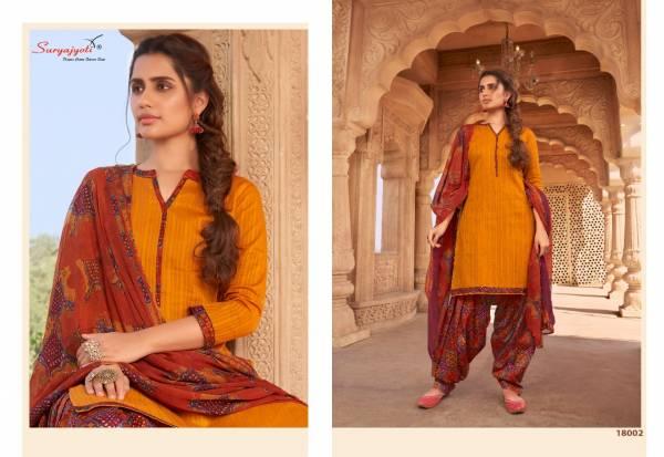 Suryajyoti Paneree Patiyala Vol 18 Cambric Dobby Fancy Salwar Suit Collection