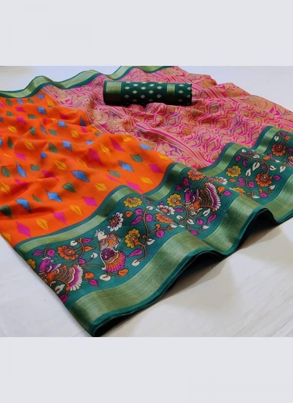 Nakshatra Fashion Studio Vol-11 linen With Zari Weaving Work With Reach Pallu Casual Wear Designer Non Catalogues Sarees