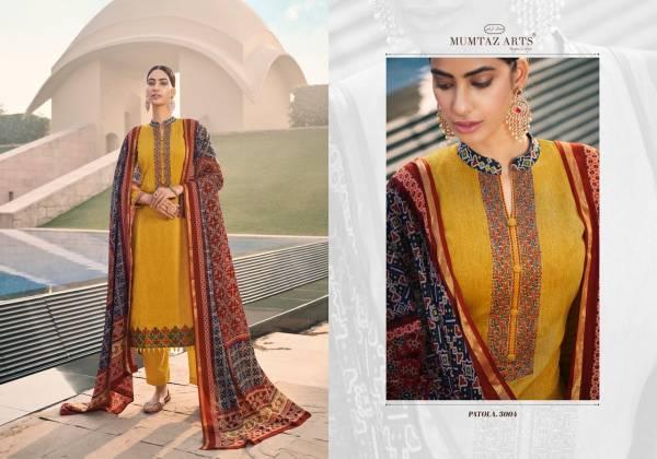 Mumtaz Arts Patola Pure Jam Satin Digital Print With Kashmiri Embroidery Work Salwar Suits Collection