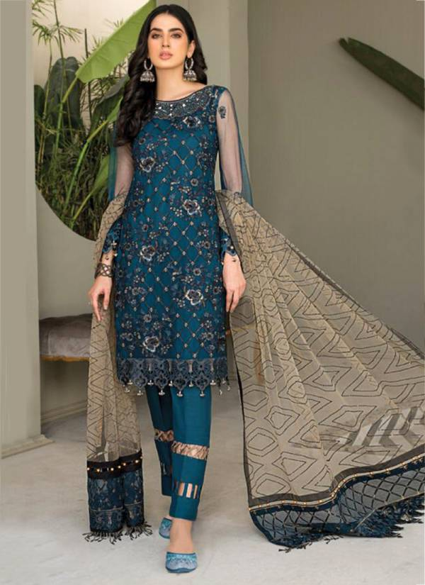 Ramsha Vol 14 Georgette Heavy Embroidery Work Wedding Wear Designer Pakistani Suits Collection