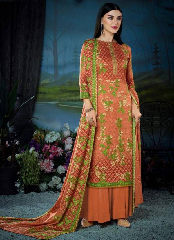 Winter Collection Series 136-001 - 136-010 Pure Pashmina Digital Style Print Winter Season Suits Collection
