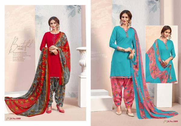 Acura Rayon Fancy Designer Digital Printed Work Festival Wear Patiyala Suit Collection