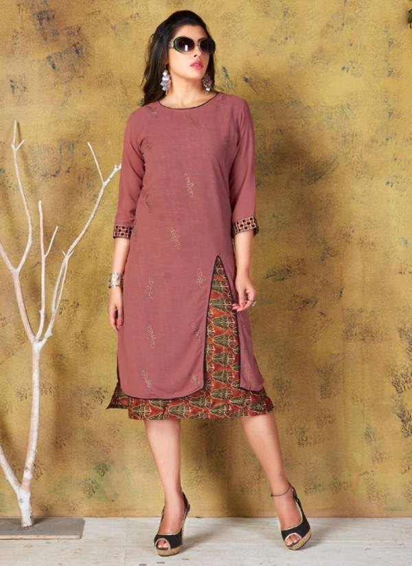Tunic House Nilima Series 2001-2010 Georgette With Fancy Embroidery Work Office Wear Fancy Work Kurtis Collection