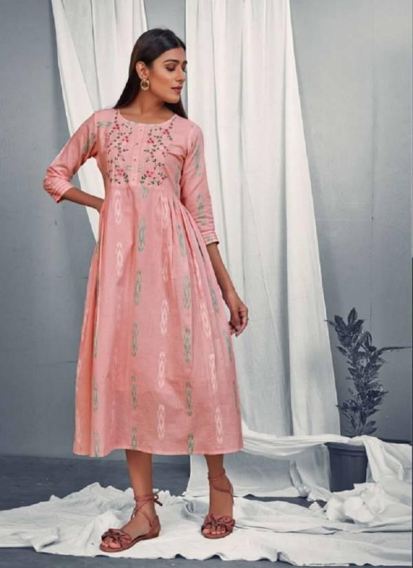 Dovi Fashion Hazel Dobby Cotton With Lining Designer Party Wear Kurti Collection
