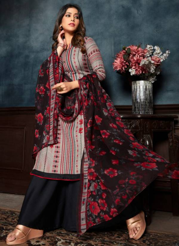 Winter Series 1092-1095 Pure Latest Pashmina Print Style Look Office Wear Suits Collection