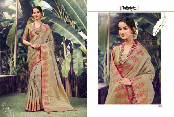 Tathastu Series 4101-4114 Silk Latest Designer Traditional Wear Sarees Collection