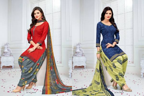 Vishnu Print Royal Patiyala Series 8025-8036 Crepe Printed New Fancy Lowest Prices Patiyala Suits Dress Material Collection