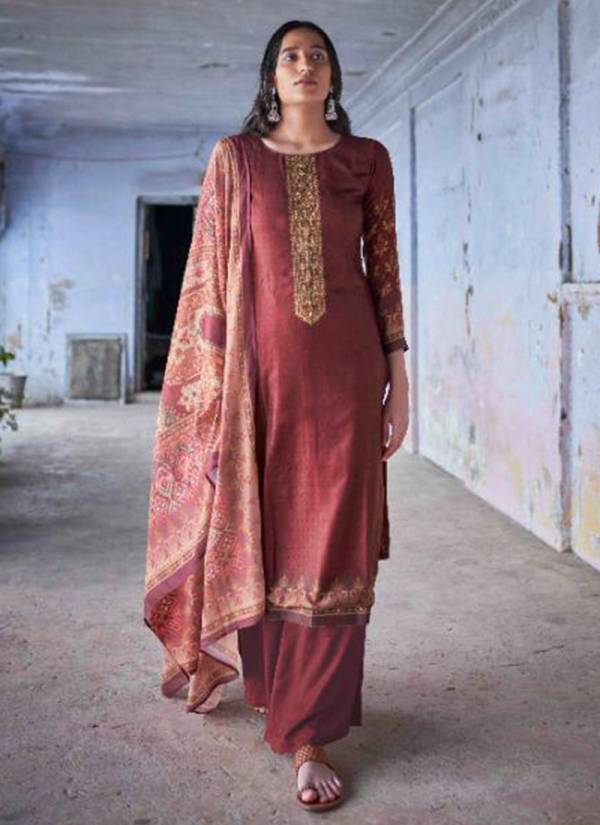 Winter Series 13001-13008 Pure Pashmina Digital Print With Fancy Embroidery Work Suits Collection