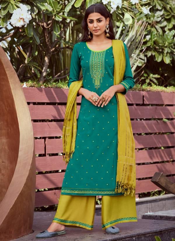 Rangoon Tyohaar Series 2541-2548 Daily Wear Jam Silk Embroidery & Khatli Work Readymade Palazzo Suits Collection
