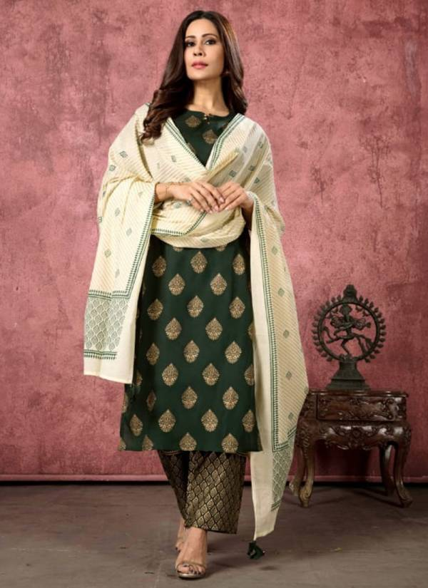 Indira Afreen Series 4301-4304 Rayon Liva Certified Malmal Cotton Tassel With Gold Printed Readymade Salwar Suit Collections