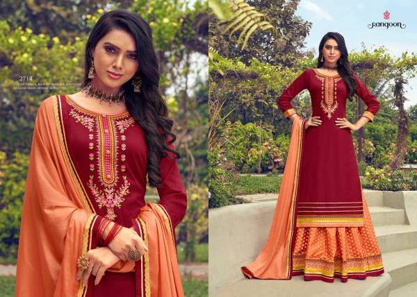 KVS Apsara Vol 2 Series 2711-2716 Jam Silk With Embroidery Work New Designer Readymade Lehenga Suits Collection