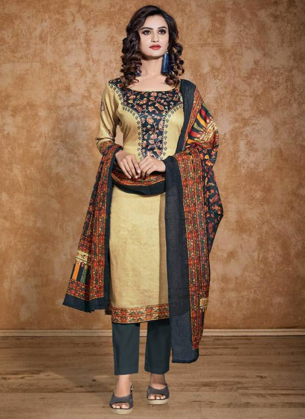 Bipson Lajoo Series 1242A-1242D Glace Cotton Printed With Swarovski Work Daily Wear Churidar Suits Collection