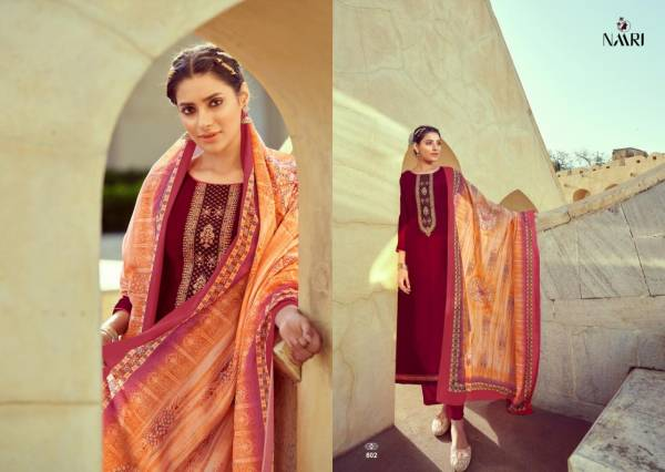 RSF Sriza Parampara Chinnon Silk Embroidery Work Designer Salwar Suits Collection