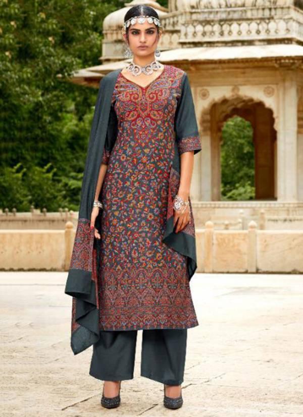 Kalki Fashion Gulmohar Series C-319-C-327 Pure Handloom Weaving Pashmina Designer Jacquard Festival Wear Suits Collection