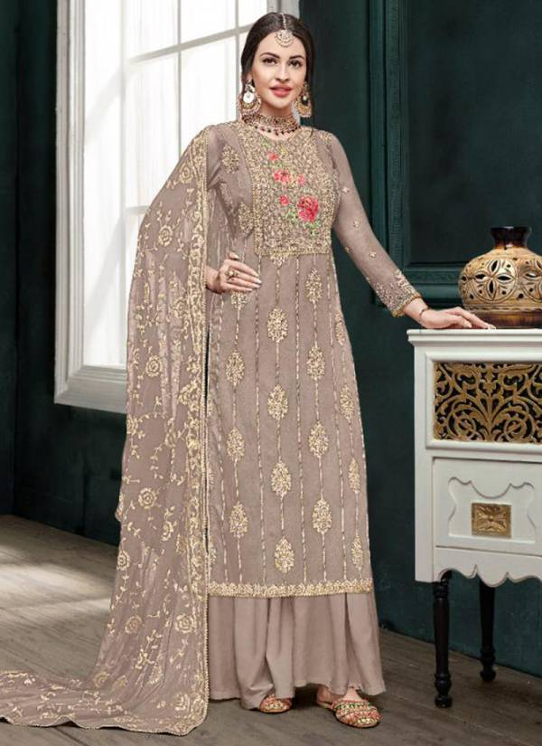 Eba Lifestyle Mount Black Vol 5 Series 1108-1112 Chinon With Heavy Embroidery & Khatli Work Festival Wear Suits Collection