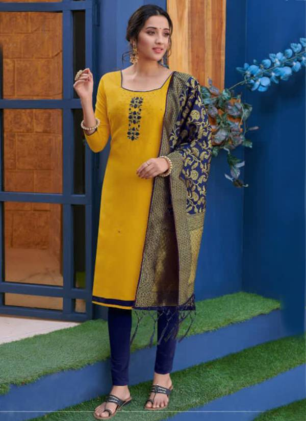 Poonam Designer Kalyani Series KALYANI-1001-KALYANI-1004 Heavy Cotton Slub With Handwork Readymade Salwar Suits Collection