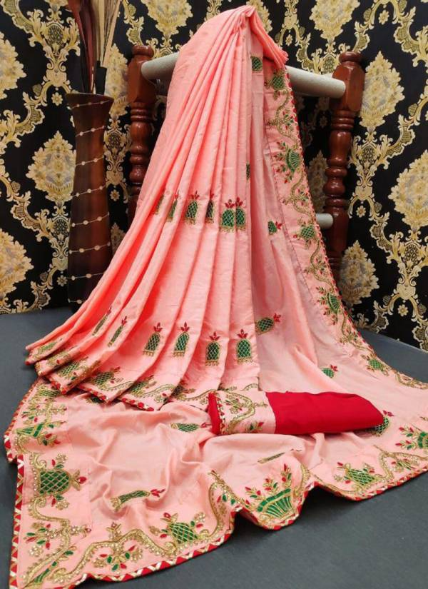 Ruhi Fashion Series 25625-25628 Dola Silk New Designer  Heavy Embroidery Work & Casual Wear Sarees Collection