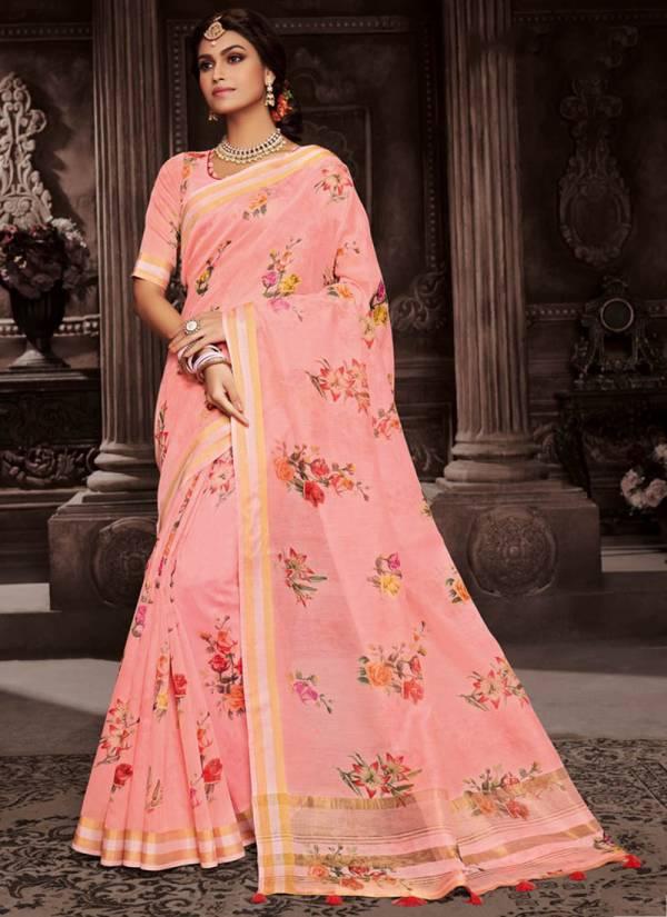 Lifestyle Vatika Cotton Brasso Fancy Kanika Tripal Jari Patta Designer Saree Collection