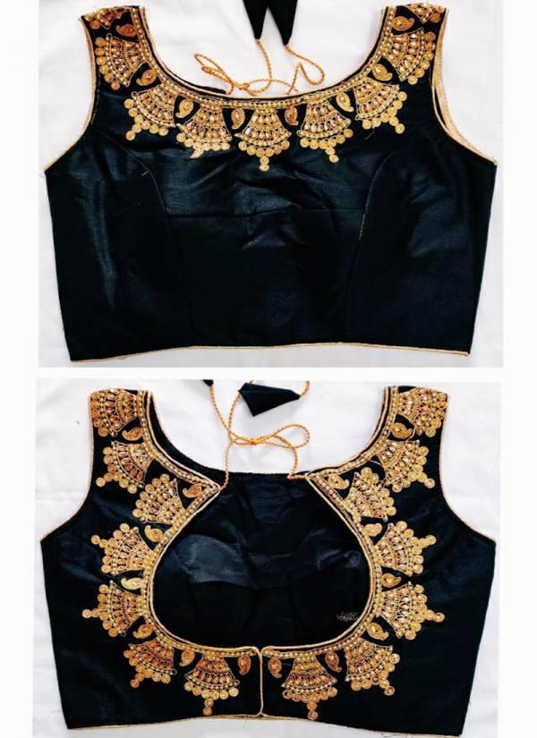 Ruhi Fashion Series DSRB1-DSRB7 Phantom Silk Zari Thread Embroidery Work Latest Fancy & Trandy Readymade Blouses Collection