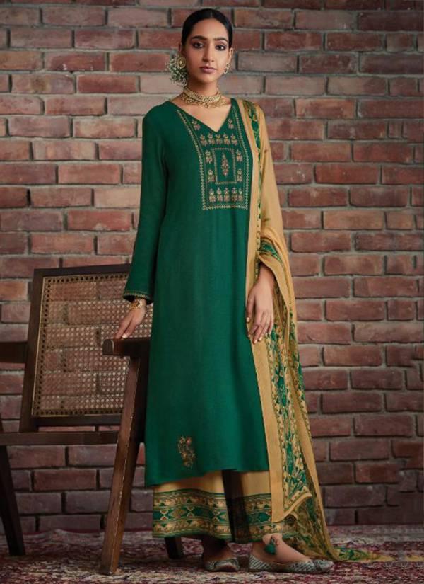 Kimora Heer Kullu Series 8201-8208 Winter Special Pure Pashmina Embroidery Work Designer Suits Collection