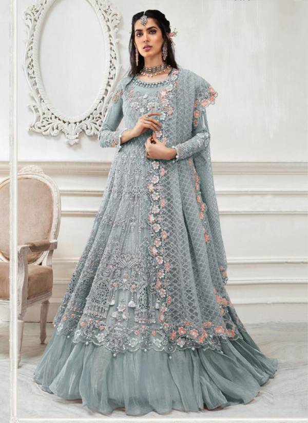 Shanaya Fashion Rose Bridal S-50 Series S50-S50D Butterfly Net Wih Embroidery & Hand Work New Designer Pakistani Suits Collection