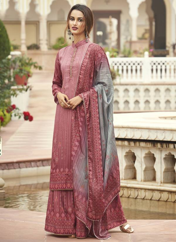 Mohini Glamour Vol 89  Natural Crepe Embroidery With Digital Printed Work Designer Palazzo Suits Collection