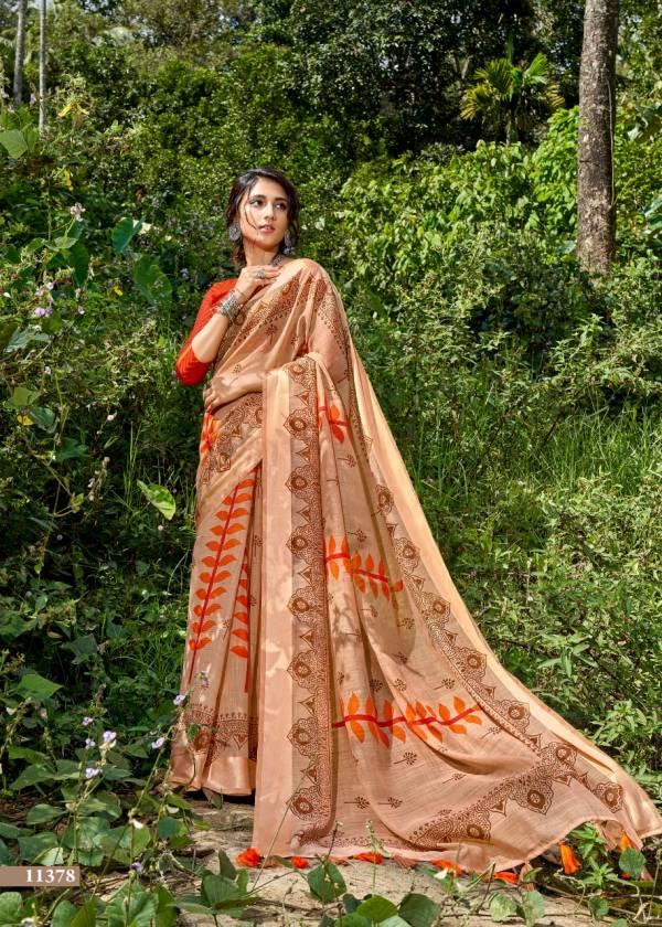 Triveni Panchee Cotton Linen Designer Fancy Sarees Collection