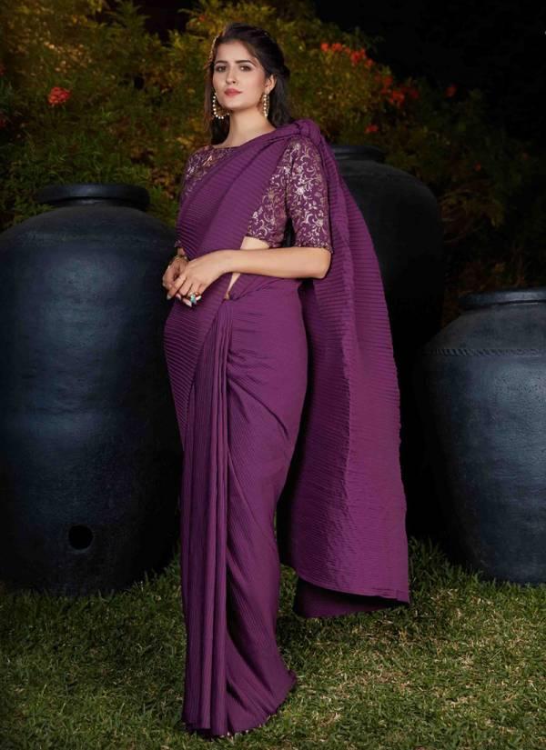 Shubhkala Sangini Vol 1 Series 4501-4507 Fancy Silk Plitting Work Stylish Look Party Wear Sarees Collection
