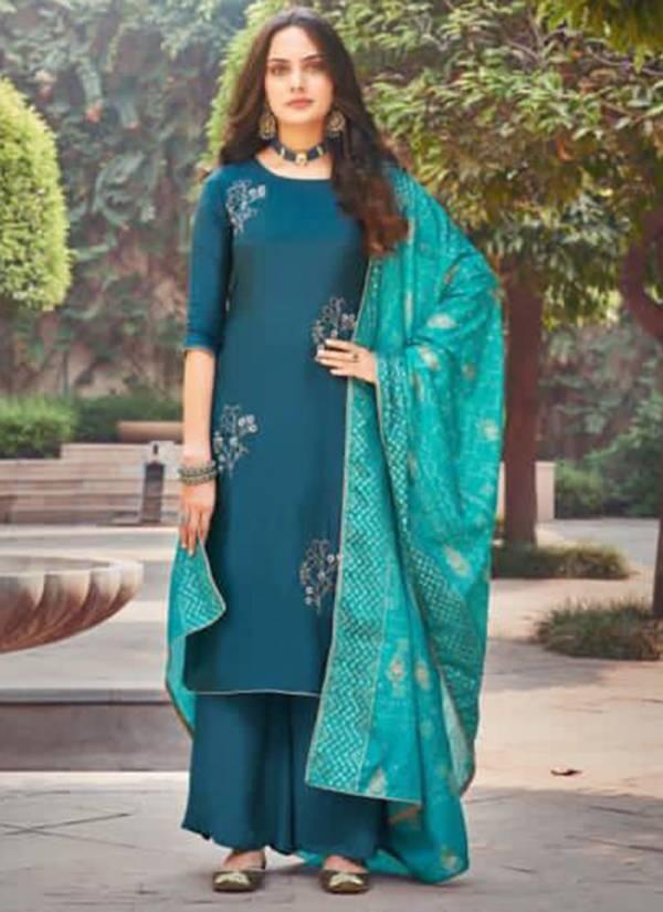 Maisha Jessy Series 1401-1404 Upada Silk Khatli Work Latest Designer Traditional Wear Palazzo Suits Collection