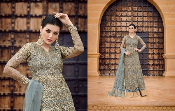 Glossy Majesty Hitlist Vol 2 Series 20001-20006 Net With Embroidery Work Wedding wear Anarkali Suits Collection
