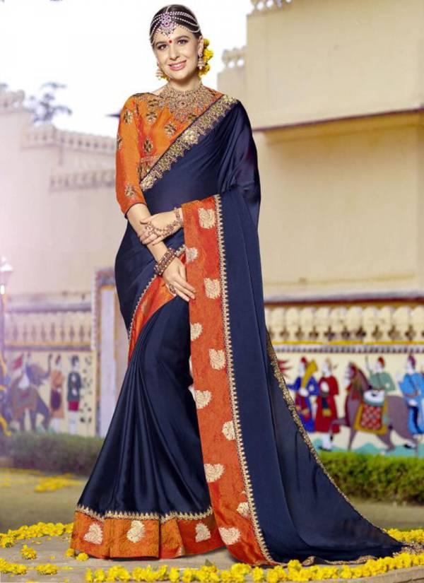 Kalista Fashion Veronica Series 57001-57006 Jeni Silk And Sana Silk Heavy Embroidery Work Latest Designer Wedding Wear Sarees Collection