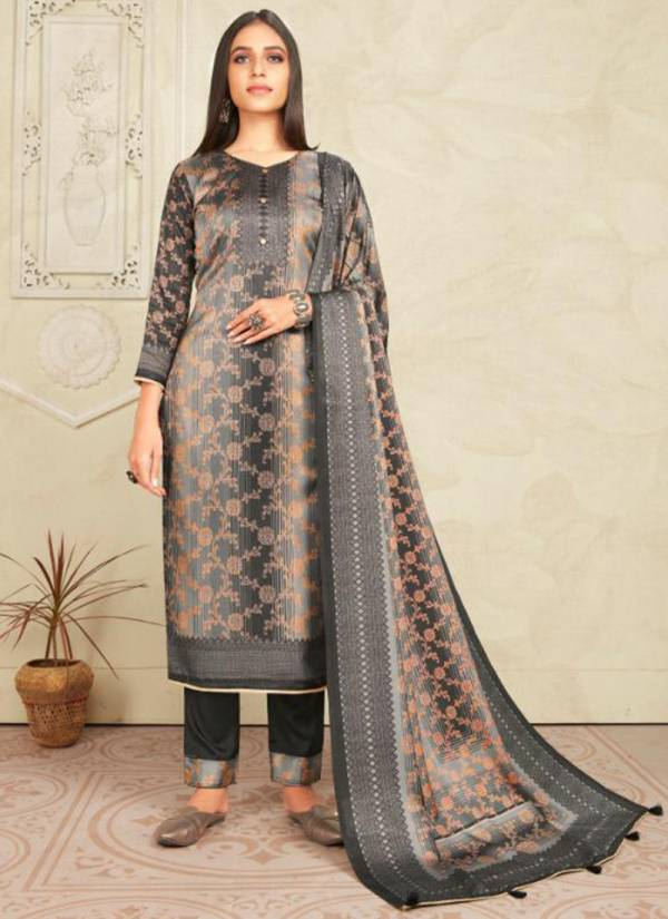 Bipson Colours 1 Series 1053-1056 Tussar Silk Jacquard Style Digital Print Festival Wear Suits Collection