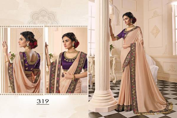 Kekee Impex Sur vol 1 Series 313-322 Dola Silk With Fancy Latakan & Border Embroidery Work Party Wear Sarees Collection