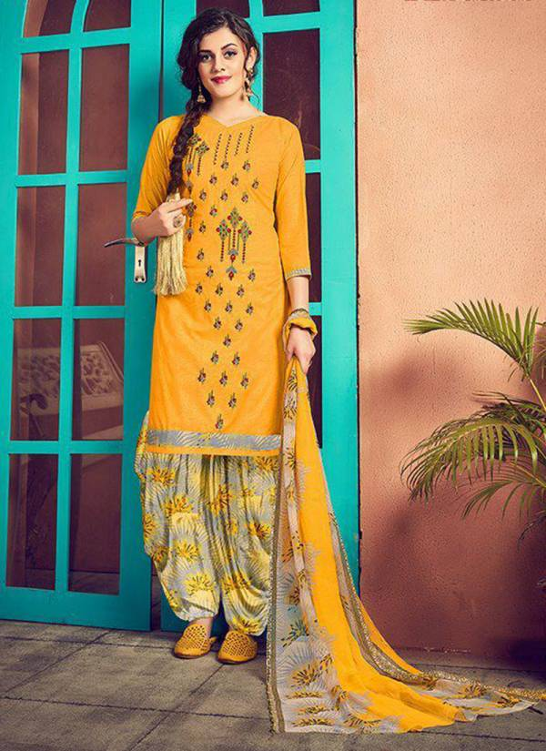 Roli Moli Mehreen Series 1001-1010 PC Cotton Print With Fancy Embroidery Work Patiyala Suits Collection