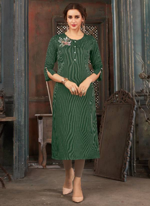 Sweety Fashion Sparsh Series 1001-1008 Rayon With Embroidery Work New Designer Casual Wear Straight Cut Kurtis Collection